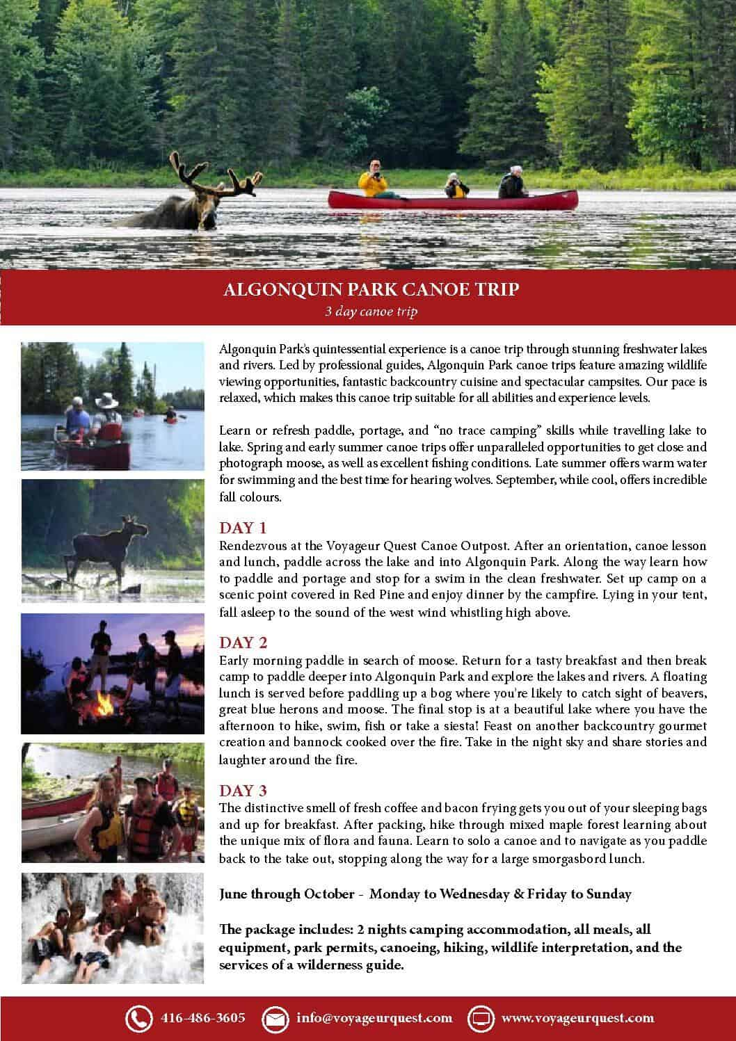 3 day canoe trip lores email - Voyageur Quest