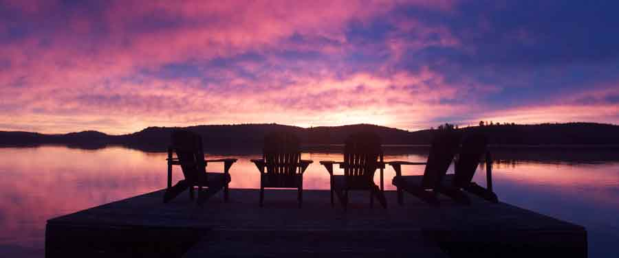 algonquin-cottage-dock-pink-sunrise