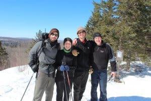 winter ski staff