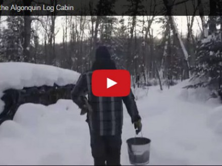 video of Algonquin park log cabin