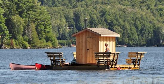 Floating Sauna with cottage rental