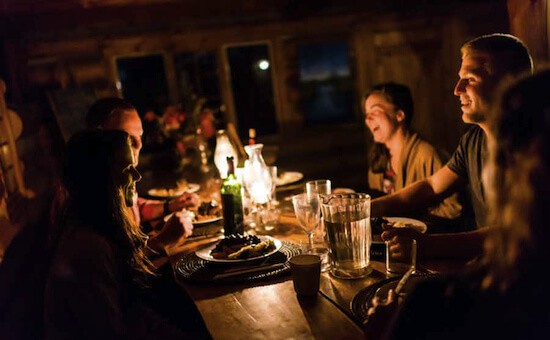 Log Cabin Dinner with Guests