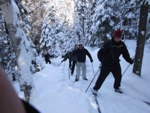 Backcountry skiing Algonquin