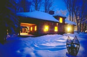 log-cabin-night-winter