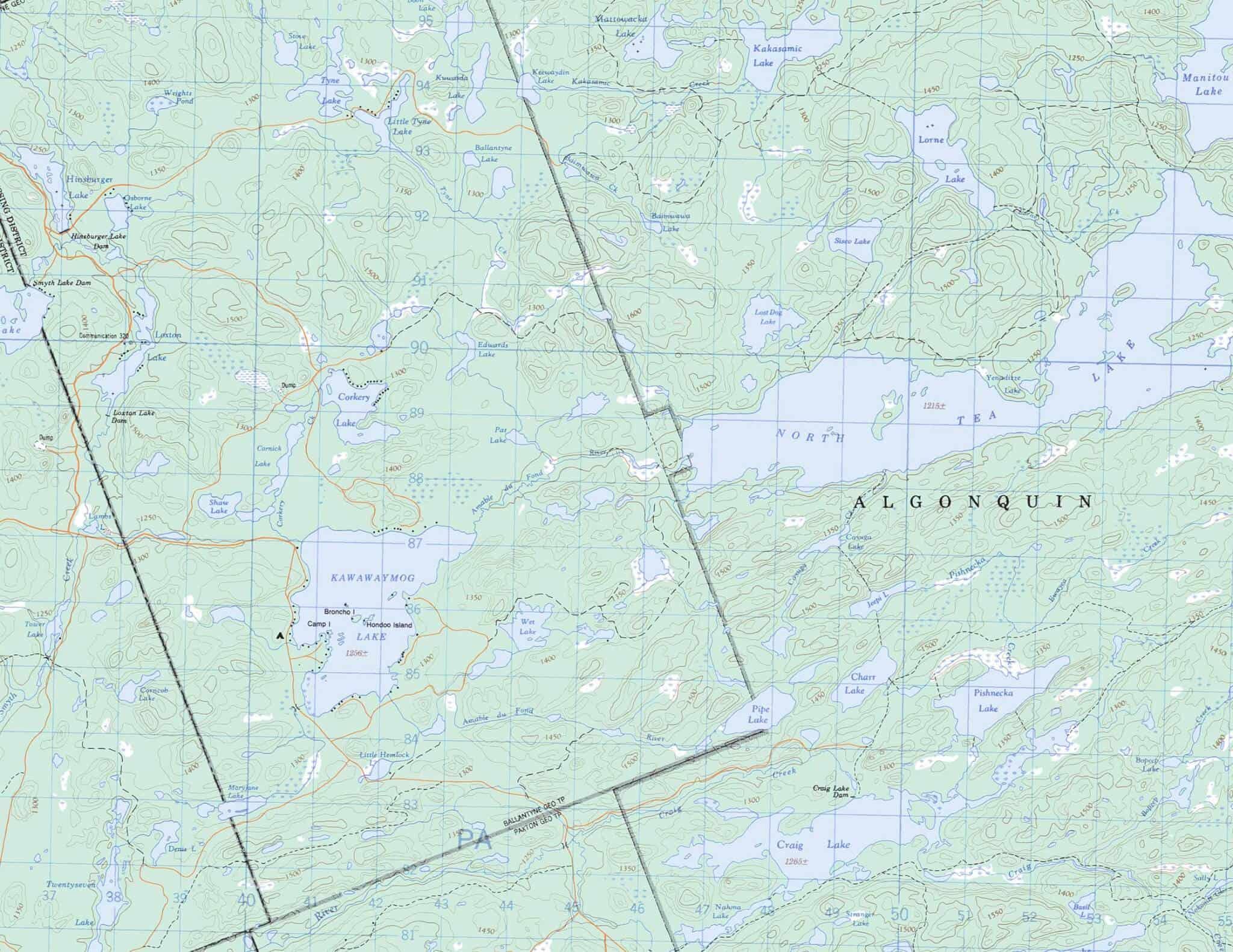 Algonquin Park Maps - Voyageur Quest Outfitting and