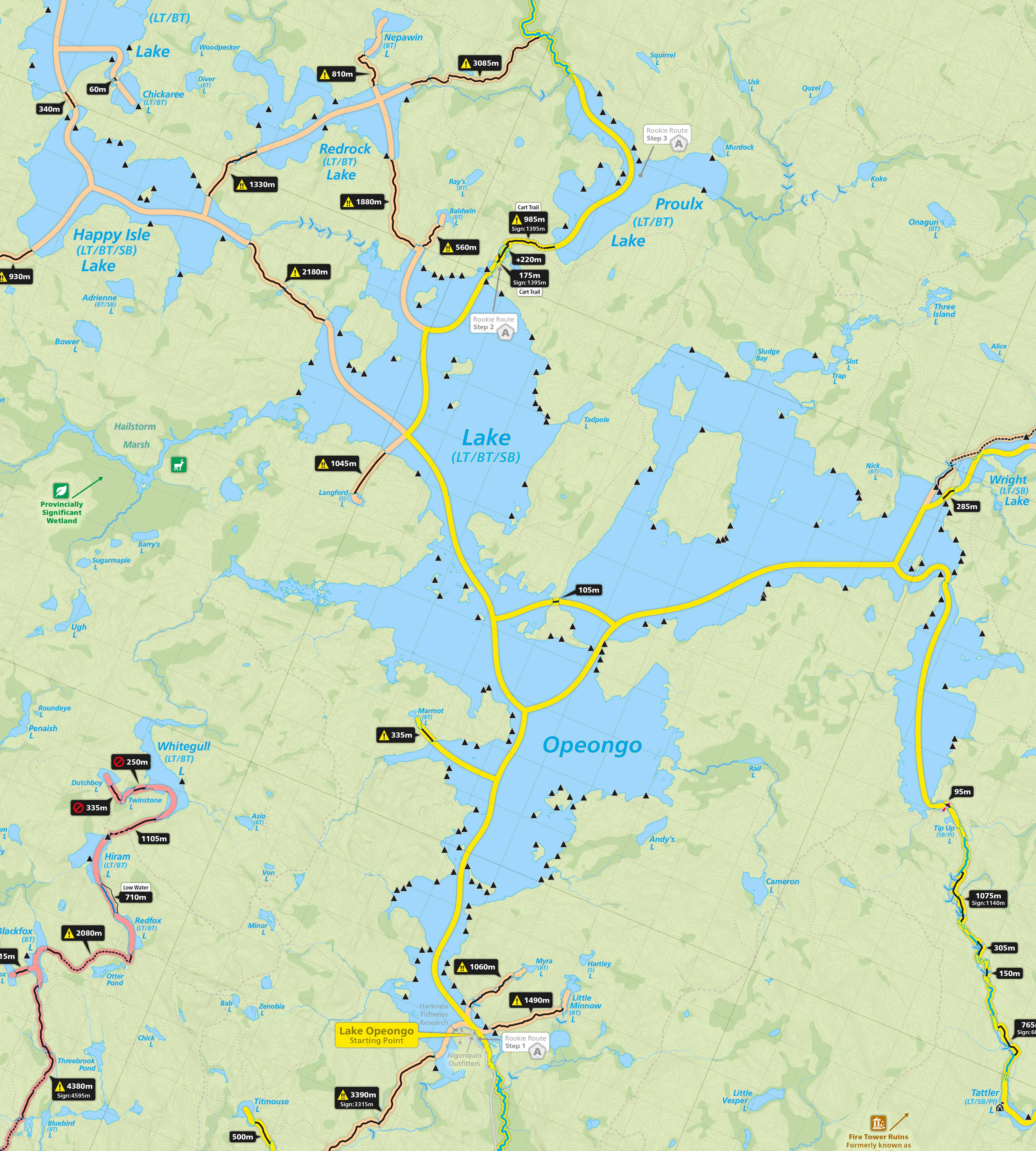 Map Of Algonquin Park Voyageur Quest » Algonquin Park Maps